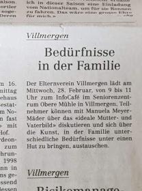 Referat: InfoCafé / Elternwerden-Elternsein; ein lebenslanger Liebes- und Leidensweg / 28.2.2018